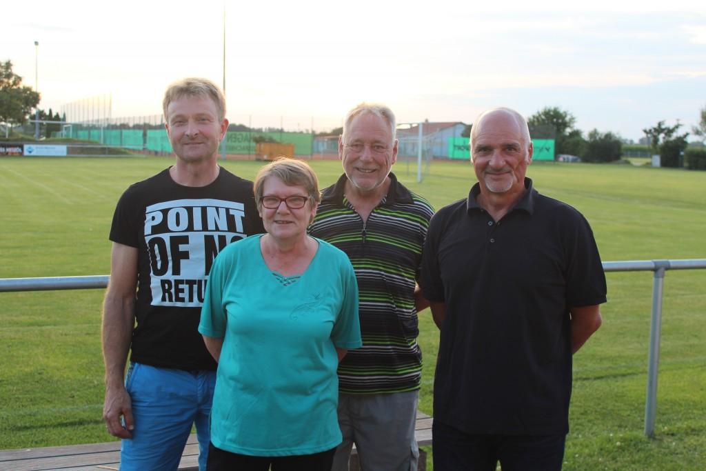 Die Vorstandschaft: Georg Pawollek, Beate Klimm, Günther Bartl und Karlheinz Schweier (es fehlt: Monika Schnell)